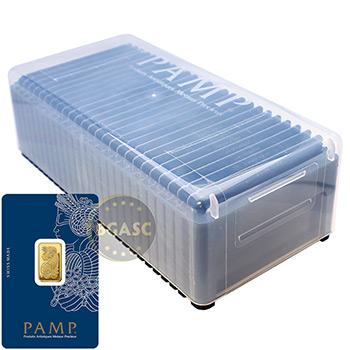 Pamp Suisse 5 gram Fortuna Gold Bullion Sealed Bar w/ Assay .9999 Fine 24kt Gold - Image