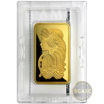 5 oz Gold Bar Pamp Suisse Fortuna w/ VERISCAN .9999 Fine 24kt (in Case w/ Assay)