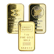 1 oz Gold Bars - Secondary Market 24kt Ingot (Random Assorted)