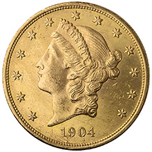 $20 Liberty Double Eagle Gold Coin Jewelry Grade (Random Year)
