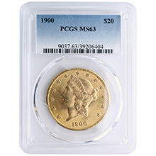 $20 Liberty Double Eagle Gold Coin PCGS/NGC Graded MS63 (Random Year)