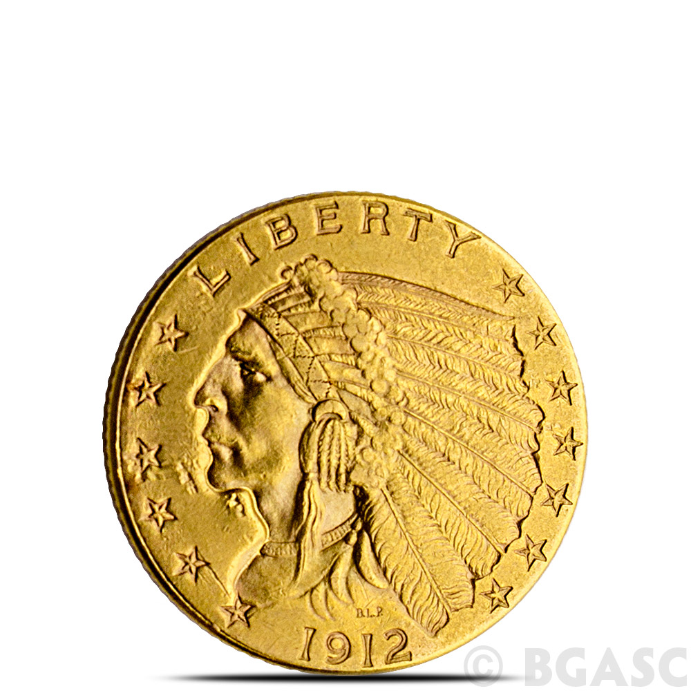 Buy 2 50 Indian Quarter Eagle Gold Coin Jewelry Grade