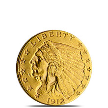 $2.50 Indian Quarter Eagle Gold Coin Jewelry Grade (Random Year)