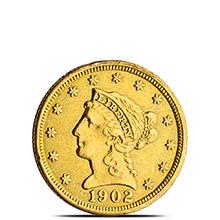 $2.50 Liberty Quarter Eagle Gold Coin Jewelry Grade (Random Year)