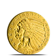 $5 Indian Half Eagle Gold Coin Jewelry Grade (Random Year)