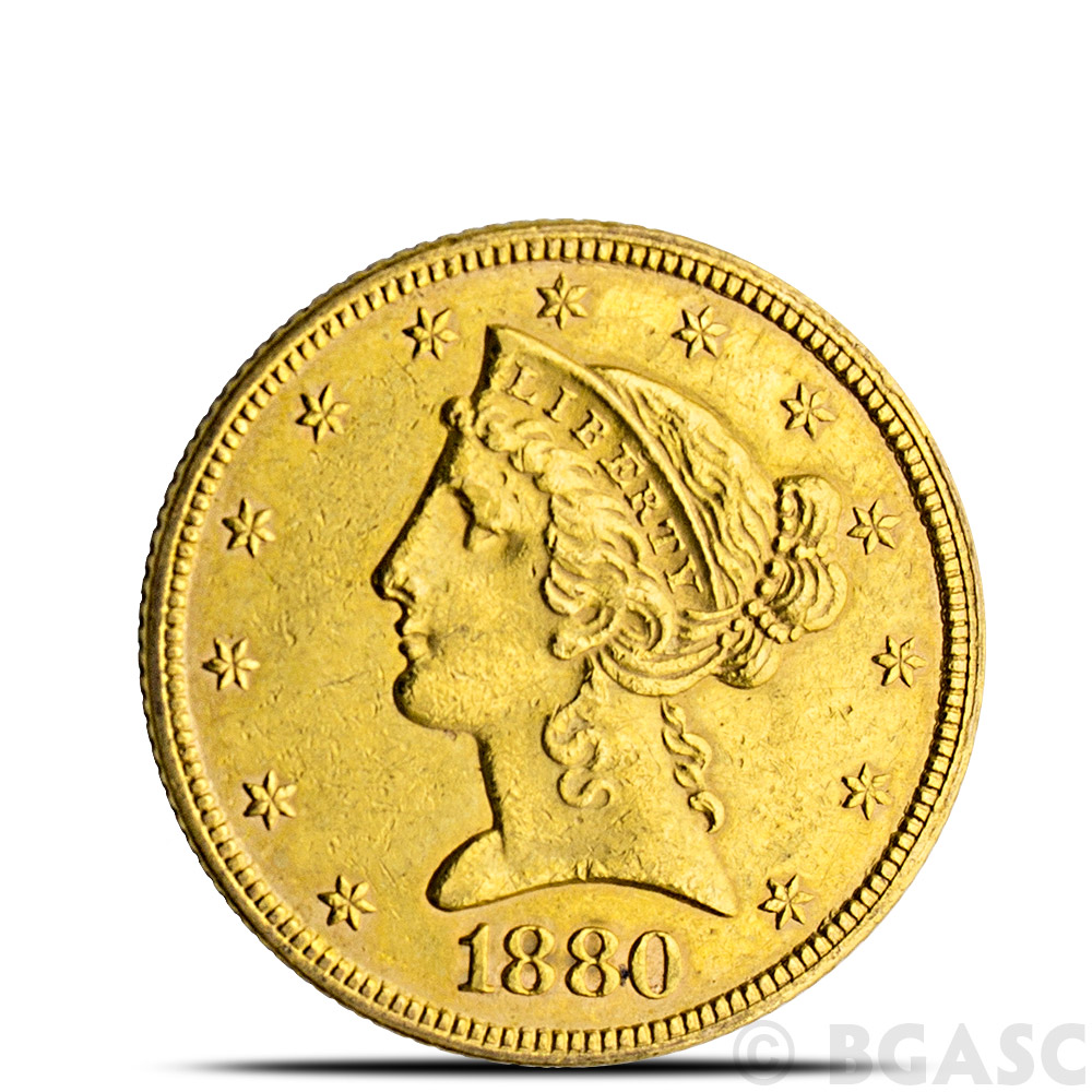 Buy 5 Liberty Half Eagle Gold Coin Jewelry Grade Random