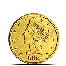 $5 Liberty Half Eagle Gold Coin Jewelry Grade (Random Year)