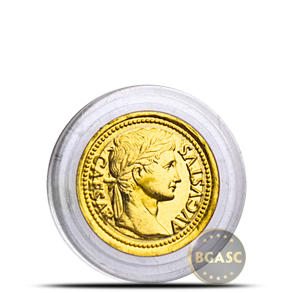 Buy 1 Gram Gold Rounds Caesar Augustus 0 032 Troy Oz
