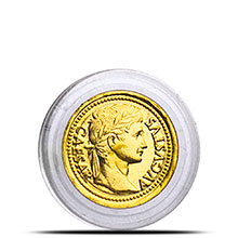 1 gram Gold Rounds Caesar Augustus (0.032 troy oz) .9999 Fine (in Capsule)
