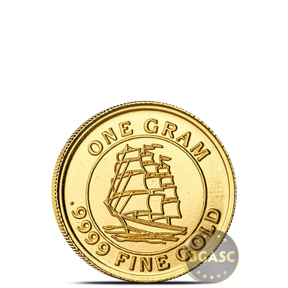 1 Gram Gold Rounds Monarch Tall Ship