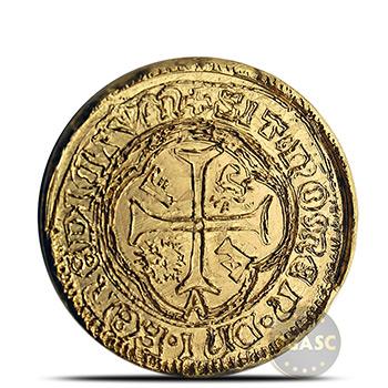 1 oz Gold Round MK BarZ Pirate Treasure Spanish Doubloon .9999 Fine 24kt (w/ COA)