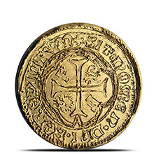 1 oz Gold Round MK BarZ Pirate Treasure Spanish Doubloon .9999 Fine 24kt (w/ COA)