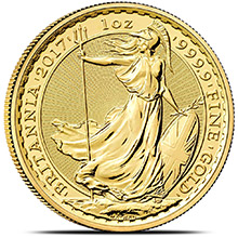 2017 1 oz Gold Britannia Bullion Coin Brilliant Uncirculated .9999 Fine 24kt