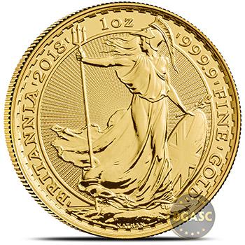 2018 1 oz Gold Britannia Bullion Coin Brilliant Uncirculated .9999 Fine 24kt