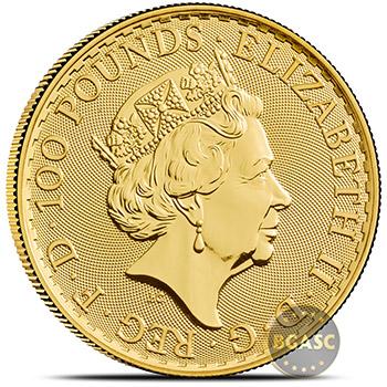 2018 1 oz Gold Britannia Bullion Coin Brilliant Uncirculated .9999 Fine 24kt - Image