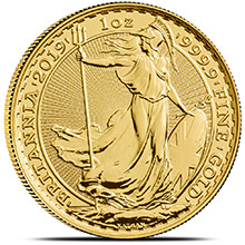 2019 1 oz Gold Britannia Bullion Coin Brilliant Uncirculated .9999 Fine 24kt
