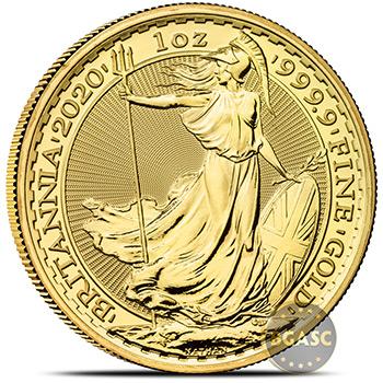 2020 1 oz Gold Britannia Bullion Coin Brilliant Uncirculated .9999 Fine 24kt