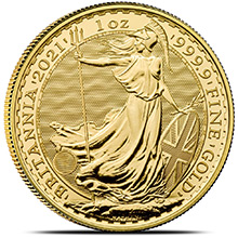 2021 1 oz Gold Britannia Bullion Coin Brilliant Uncirculated .9999 Fine 24kt