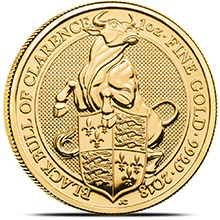 2018 1 oz Gold British Queen's Beasts Bullion Coin - The Black Bull of Clarence