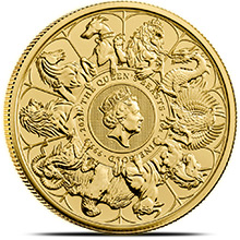 2021 1 oz Gold British Queen's Beasts Bullion Coin - Series Completer