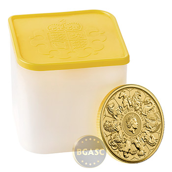 2021 1 oz Gold British Queen's Beasts Bullion Coin - Series Completer - Image
