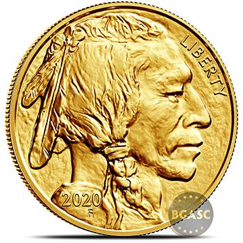 2020 1 oz American Gold Buffalo Brilliant Uncirculated .9999 Fine 24kt