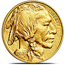 2021 1 oz American Gold Buffalo Brilliant Uncirculated .9999 Fine 24kt