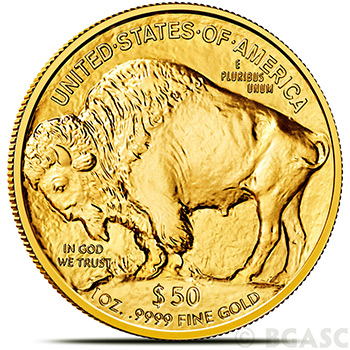 $50 1 oz Gold American Buffalo US Raw Random Year Brilliant Uncirculated Gem .9999 Fine 24kt Gold - Image