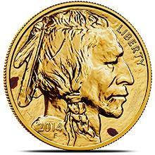 1 oz American Gold Buffalo - Spotted / Scuffed .9999 Fine 24kt (Random Year)