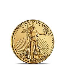 2014 1/10 oz Gold American Eagle $5 Coin Brilliant Uncirculated Bullion