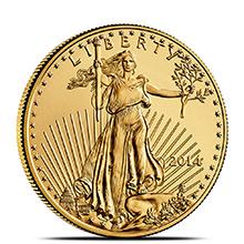 2014 1/2 oz Gold American Eagle $25 Coin Brilliant Uncirculated Bullion