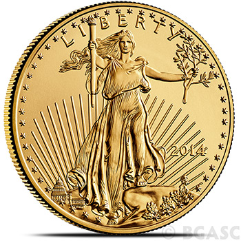 2014 1 oz Gold American Eagle $50 Coin Bullion Brilliant Uncirculated Gem - Image