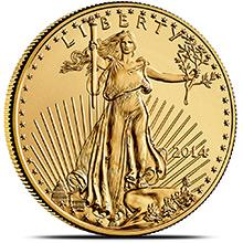 2014 1 oz Gold American Eagle $50 Coin Brilliant Uncirculated Bullion