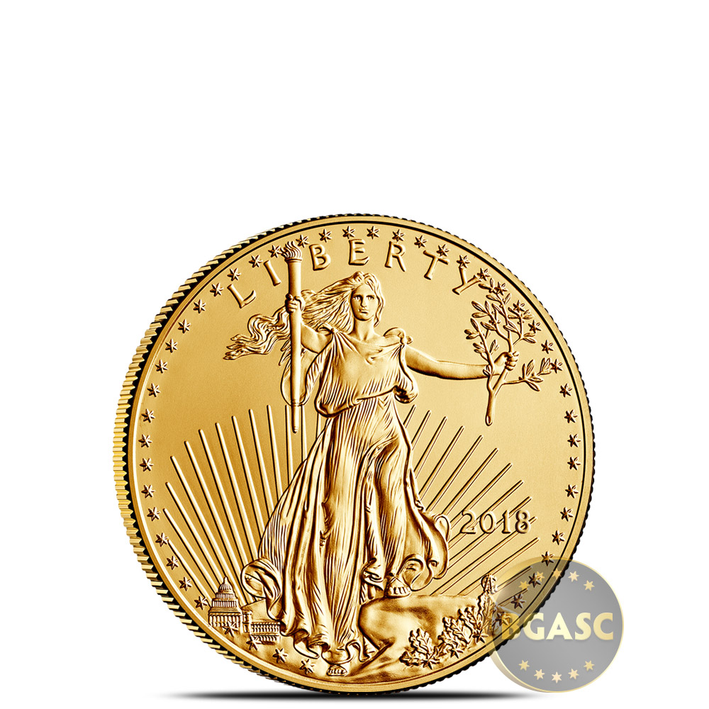 2018 Gold American Eagle 1//10 Troy oz Fine Gold US Made Capsuled Bullion BU Coin