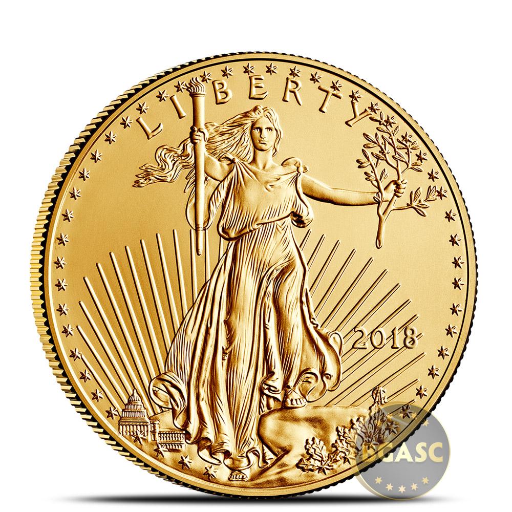 2018 1 2 Oz Gold American Eagle 25 Coin Bullion Brilliant Uncirculated