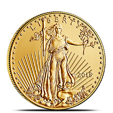 2018 1/2 oz Gold American Eagle $25 Coin Bullion Brilliant Uncirculated