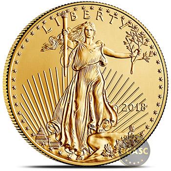 2018 1 oz Gold American Eagle $50 Coin Bullion Brilliant Uncirculated