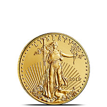2019 1/10 oz Gold American Eagle $5 Coin Bullion Brilliant Uncirculated