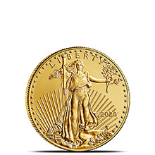 2020 1/10 oz Gold American Eagle $5 Coin Bullion Brilliant Uncirculated