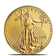 2020 1/2 oz Gold American Eagle $25 Coin Bullion Brilliant Uncirculated
