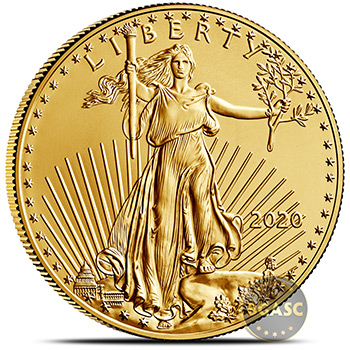 1 oz Gold American Eagle Brilliant Uncirculated Bullion Coin in Velvet Gift Box - Image