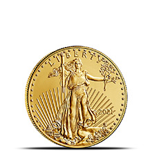 2021 1/10 oz Gold American Eagle $5 Coin Bullion Brilliant Uncirculated
