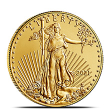 2021 1/2 oz Gold American Eagle $25 Coin Bullion Brilliant Uncirculated