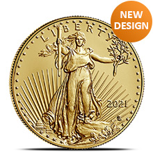 2021 1/2 oz Gold American Eagle $25 Coin Bullion Brilliant Uncirculated - Type 2, New Design