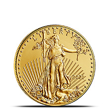 2021 1/4 oz Gold American Eagle $10 Coin Bullion Brilliant Uncirculated