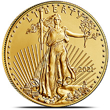 2021 1 oz Gold American Eagle $50 Coin Bullion Brilliant Uncirculated