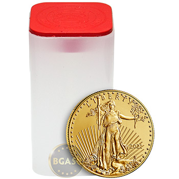 2021 1 oz Gold American Eagle $50 Coin Bullion BU - Image