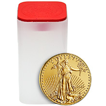 2021 1 oz Gold American Eagles $50 Bullion BU (Tube of 20 Coins)