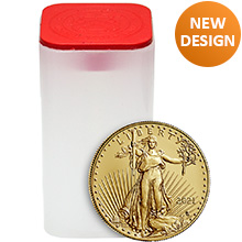 2021 1 oz Gold American Eagles $50 Bullion BU (Tube of 20 Coins)