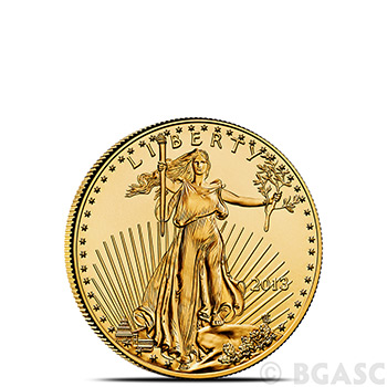 1/10 oz Gold American Eagle $5 Coin Brilliant Uncirculated Bullion (Random Year)